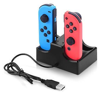 Nintendo-Schalter Ladestation Ladestation für 4 Bedienelemente