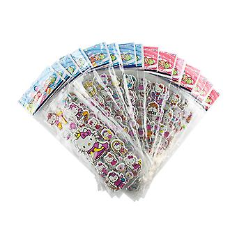 Hello Kitty stickers in 3D-2 Sheets (about 24 pieces)