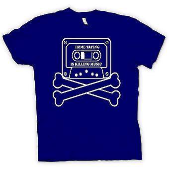 Mens t-skjorte - hjem Taping piratkopiering - Funny