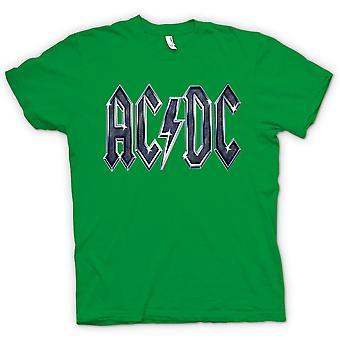 レディース t シャツ - AC/DC Mettalic ロゴ - ロック