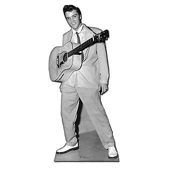 Elvis with Guitar Hanging Around Neck - Lifesize Cardboard Cutout / Standee