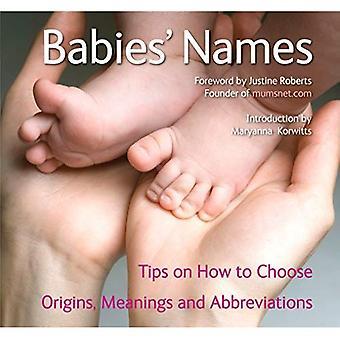 De namen van de baby's