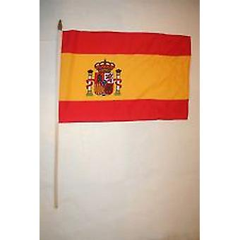 Spain Hand Held Flag- with crest