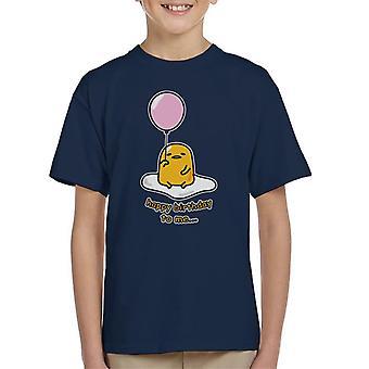 Gudetama Happy Birthday To Me Kid's T-Shirt