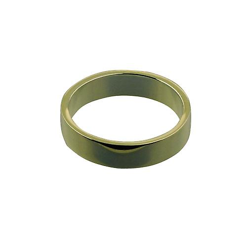 9ct Gold 5mm plain flat Wedding Ring Size Z