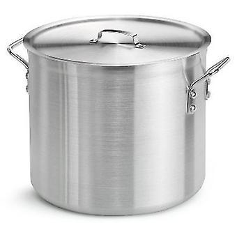 8 لتر ألمنيوم الحساء مع مقابض وقطرها 24 سم غطاء