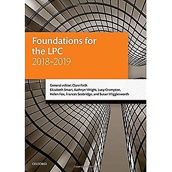 Grunden för den LPC 2018-2019 (rättslig praxis kurs manualer)
