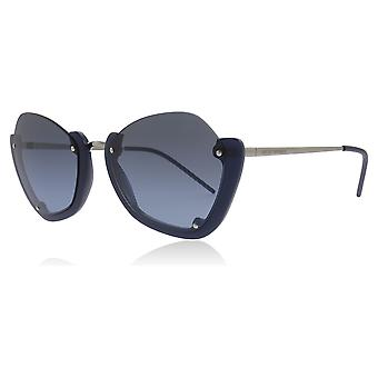 Emporio Armani EA4120 56948F Blue / Avio / Milky EA4120 Butterfly Sunglasses Lens Category 2 Size 55mm