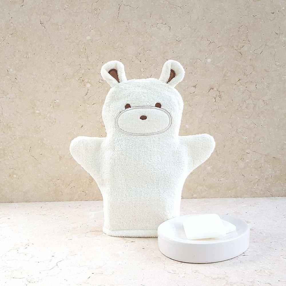 Smiley Bear baby towel gift set