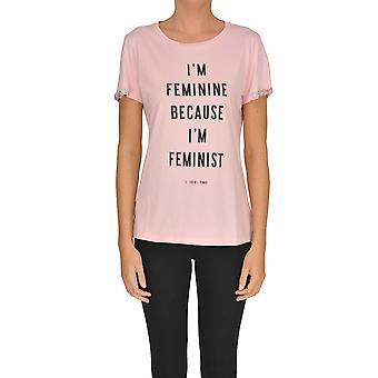 Pinko Pink Cotton T-shirt