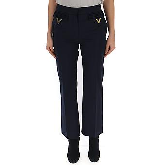 Valentino Blue Viscose Pants