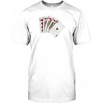 Royal Flush - pokerhånd - Kids T Shirt