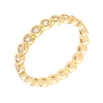 Bertha Juliet Collection Women's 18k YG Plated Stackable Eternity Fashion Ring Size 6