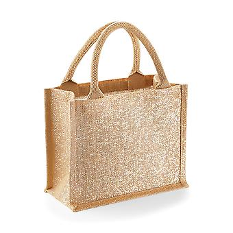 Westford Mill Shimmer Jute Mini Gift Bag (Pack of 2)