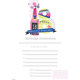 SE Girls 18th Birthday Party Invites Hanging Pads
