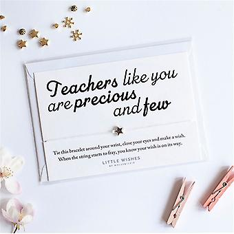 Teachers like You Are Precious And Few Charm Bracelet With Envelope