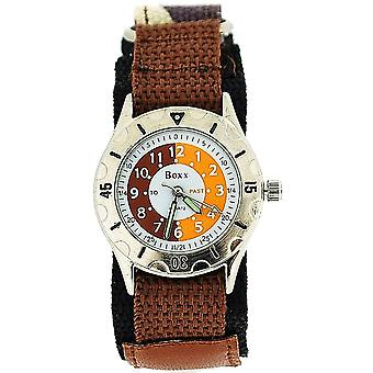 Boxx Time Teacher Brown Army Camouflage Easy Fasten Strap Boys Sports Watch
