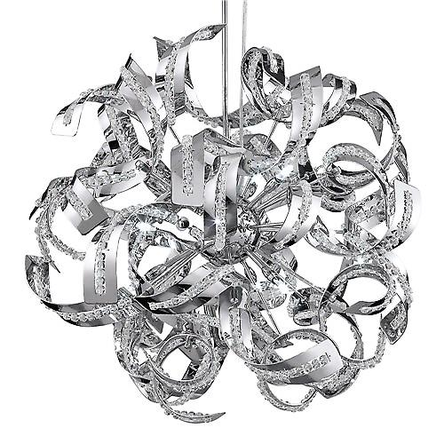 Searchlight 6299-9CC Sparkles 9 Light Chrome Finish Pendant Height Adjustable