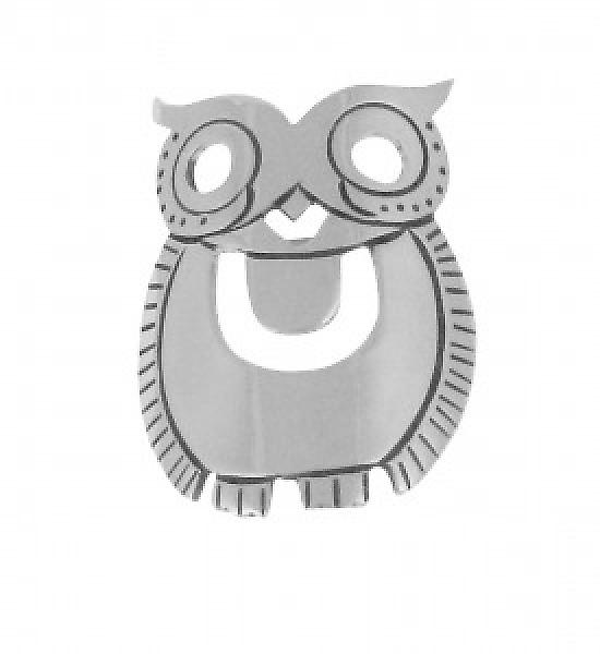 Cavendish French Sterling Silver Owl Brooch