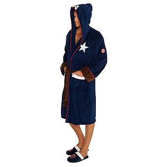 Captain America Civil War Outfit Adult Fleece Dressing Gown