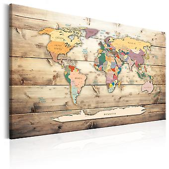Canvas Print - World Map: Colourful Continents