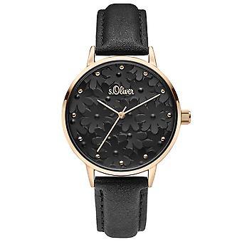 s. Oliver dameshorloge horloge leer SO-3786-LQ