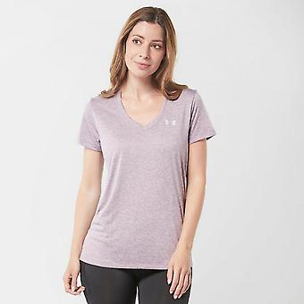 New Under Armour Women's Tech Twist Fitness Short Sleeve Tee Purple