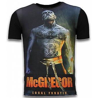 McGregor Fire Arm-Digital Rhinestone T-shirt-Black