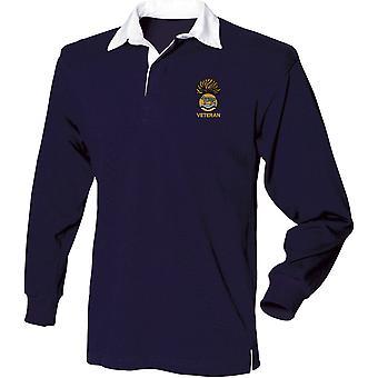 Royal Munster Fusiliers Veteran - lizenzierte britische Armee bestickt Langarm Rugby Shirt