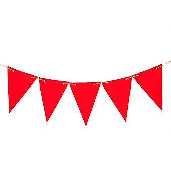 Gardenista® Red 10ft Water Resistant Fabric Bunting