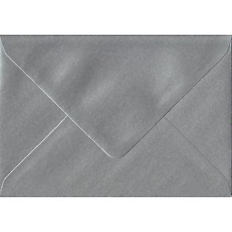 Silver Gummed Gift/Place Card Coloured Silver Envelopes. 100gsm FSC Sustainable Paper. 70mm x 110mm. Banker Style Envelope.