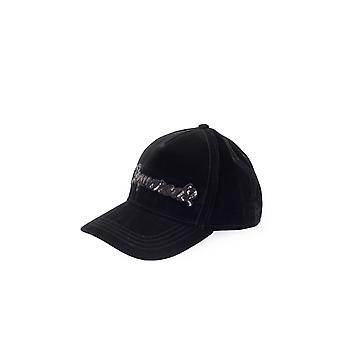 DSQUARED2 BLACK VELVET SEQUINS BASEBALL CAP