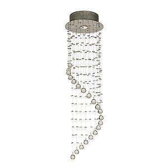Diyas Colorado Pendant Single-Spiral 1 Light Polished Chrome/Crystal