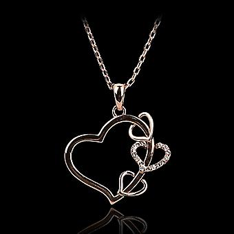 18K Gold Plated Love Hearts Pendant