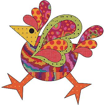 Urban Elementz Fusible Applique-Funky Chicken - Dotz #4 Small UEA0778D
