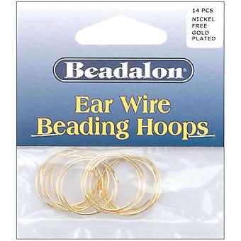 Ear Wire Beading Hoops Small 20Mm 14 Pkg Gold Plated Nickel Free 308A 100