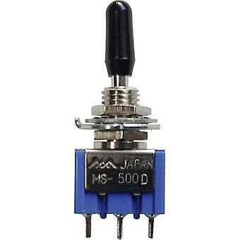 Toggle switch 125 Vac 6 A 1 x On/Off/(On) Miyama MS 500-BC-D latch/0/momentary 1 pc(s)