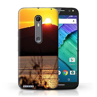 STUFF4 Case/Cover for Motorola Moto X Style/Mountain Top/Sunset Scenery