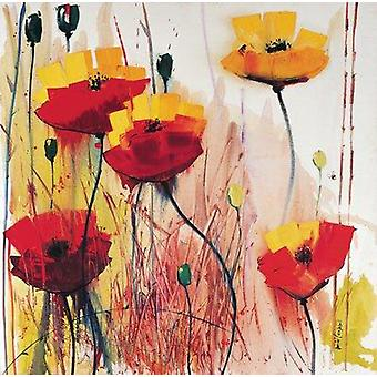 Daniel Campbell print - Poppies in Gelb