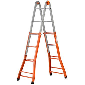 Gierre Telescopic Ladder Steel Peppina (4 + 4 Steps) (Diy , Construction , Stairs)