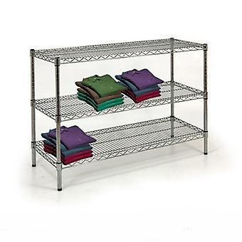 Display Table - Wire Chrome