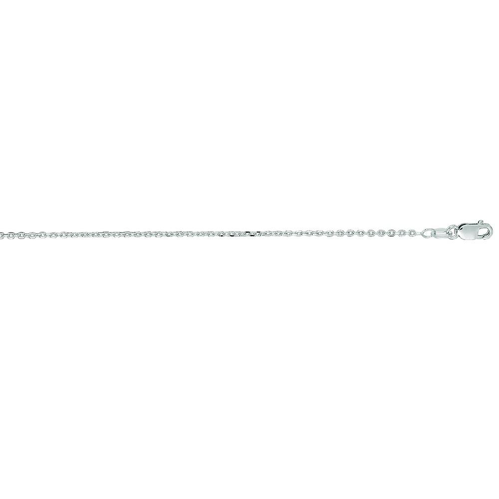 14k blanc or 1.4mm Sparkle-Cut Cable Link Chain With Lobster Clasp Necklace - Length  16 to 24