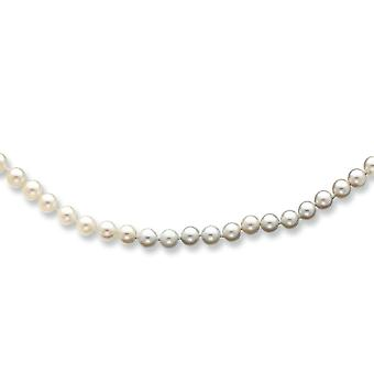 14k Yellow Gold Pearl clasp 5-5.5mm White Akoya SW Freshwater Cultured Pearl Bracelet - 7 Inch