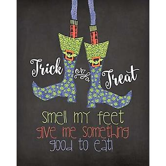 Smell My Feet Poster Print by Jo Moulton
