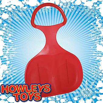Red Plastic Snow Skimmer Bump Sled / Sledge
