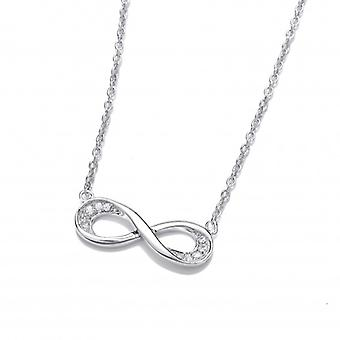 Cavendish French Silver and Cubic Zirconia Infinity Necklace