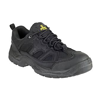 Amblers Steel FS214 Mens Safety Trainers Textile Synethetic PU Sole Lace Up Shoe
