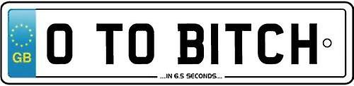 0 To B**** In 6.5 Seconds Numberplate Car Air Freshener