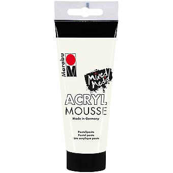 Marabu Acryl Mousse 100ml-White 12059050-070