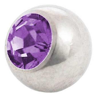 Piercing Replacement Ball, Tanzanite Stone | 1,2 x 3 and 4 mm, Body Jewellery